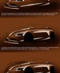 painting a car digitally by husseindesign