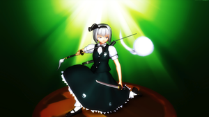 Smash Bros Trophy Youmu Konpaku 2560x1440 by headstert