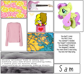 Sam mood board by Natalie-Sophie