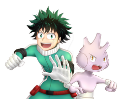 Midoriya and Tyrogue