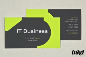 IT Business Card Template by inkddesign