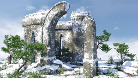 Ruins - The First Snow (img02) by Andrey79