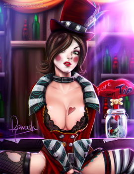 Mad Moxxi from Borderlands by Reivash