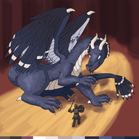 Leif and Thorn - Feathered Dragon by ErinPtah
