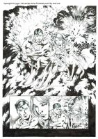 Supergirl #14 pg 1 ink sample Jonas Trindade. by JonasTrindade