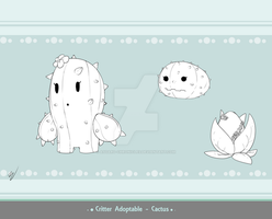 Critter Adoptable - Cactus SOLD by Asgard-Chronicles