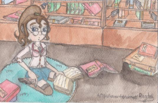 Bookworm final by A-Rag-Doll