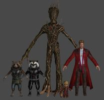 Guardians VU Pack Marvel Heroes XNALara by Xelandis
