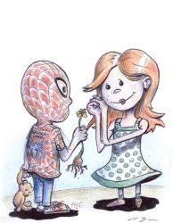 spidey love by grote-design
