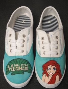 'The Little Mermaid' - Ariel Canvas Shoes by tjjwelch