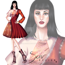 Daisy Garden Collection by Seer Design Look 3 by Im-Seer