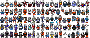 (50FS!) 25 Sans and 25 Papyrus(UD FOR 100 FOLLOWS) by GonzaloGamer128NEW