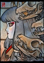 Whispers [ACEO] by TeaKitsune
