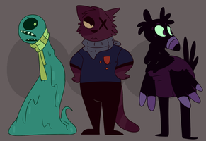 Adoptables - Lil Monsters x2 Adopts CLOSED by QueenStorm