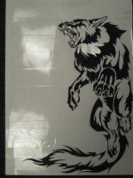 Wolf Shirt Stencil by Canyx