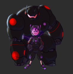 Stealth mode: Hiro and Baymax by kemiobsesses