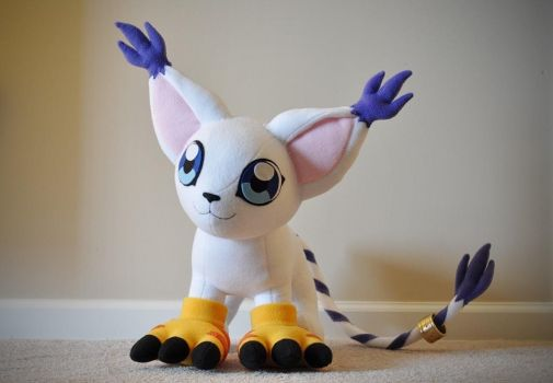 Gatomon Plushie - Digimon Adventures by hiyoko-chan