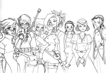 The Ladies of RnT by aquietfrog