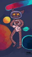 Space cat by SolangeGag