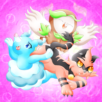 Middle Alolan Starters by lavaquil