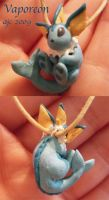 Vaporeon Charm by LeluDallas