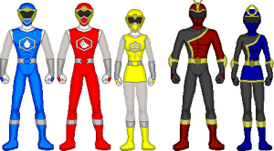 Power Rangers Hexagon Fighters by DerpMP6