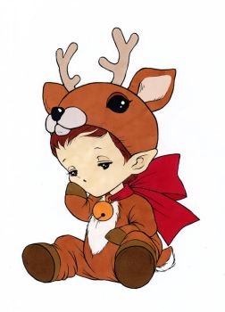 Reindeer Sprite Colored by Maiko-Girl