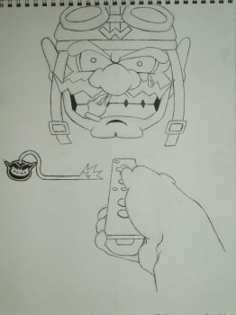 WarioWare Contest Lineart by tai4