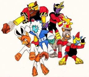Ponified Robot Masters MM1 by FluttershyElsa