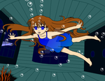 Water Dress Shaya Swimming Underwater