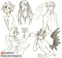PATREON sketch dump by pencil-butter