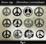 Peace Signs - Photoshop Custom Shapes by anulubi