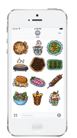 Lebanese Food iMessage Stickers by MissChatZ