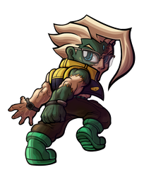 Street Fighter V - Nash Chibi by fastg35