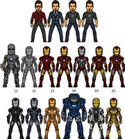 Tony Starks Iron Legion by BAILEY2088