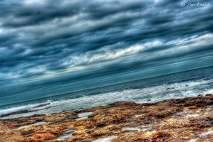 Rocks Winter Sea by Brompled