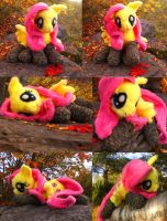 Fluttershy Plushie, now with socks! by Holcifio