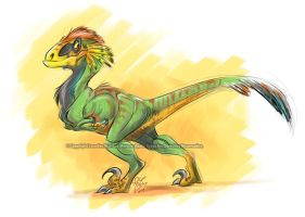 Feathery raptor by marimoreno