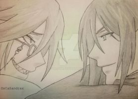 Grell and Sebastian by VAL0VE