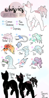 Whispie ponies reference sheet (Semi-open species) by ghxstile