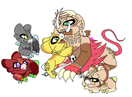 All Kirah's Little Relatives And His Son by VixuVixy