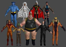 X-Men Misc Pack XNALara Marvel Heroes by Xelandis