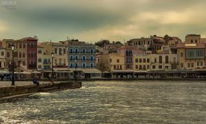 Autumn in the old Venetian port of Chania II by BillyNikoll