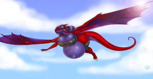 Commission- Inflated Flying by Lilly-moo