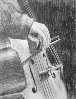 Cello Closeup by Kuenai