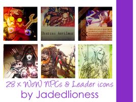 World of Warcraft: Various NPCs and Leaders Icons by jadedlioness