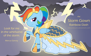 Rainbow Dash - the Storm Gown by Reina-Kitsune