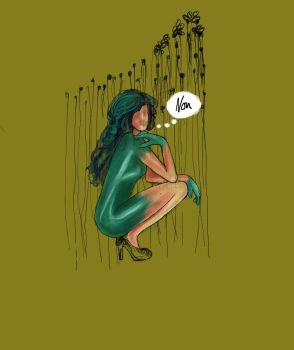 Green dress by larryrotten
