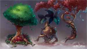 Dancing Trees by VeraZowa
