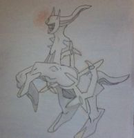 My Arceus first pokemon drawing by Arceusomegazone